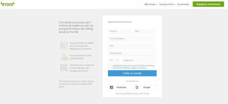 Acheter IOTA - ouvrir un compte sur eToro